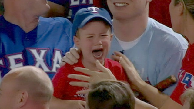 VIDEO: Matthew and Crystal Shores son learns of a surprise hell get from the Rangers.