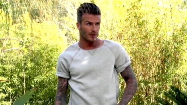 VIDEO: David Beckham Poses Topless for ELLE UK