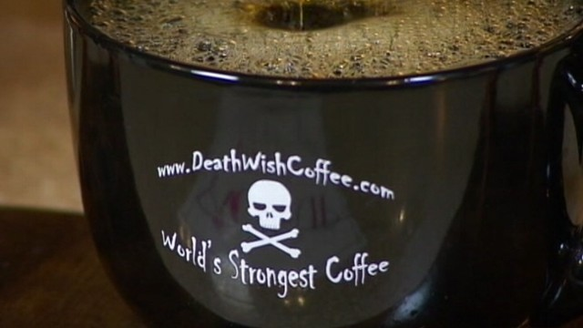 """VIDEO: Drinking the """"worlds strongest cup of coffee"""" is like having two cups at once."""