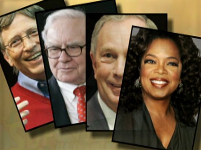 VIDEO: Some of the richest people in the world meet to discuss philanthropy.