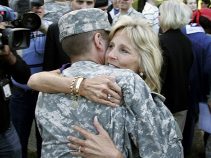 VIDEO: Vice presidents wife will discuss military families on the show this weekend.
