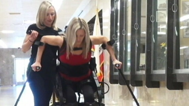 VIDEO: Muhammad Lila looks at robotic suit that assists injured people to regain mobility.