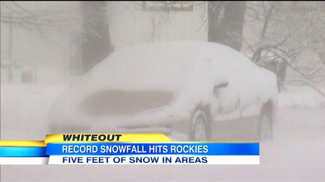 VIDEO: Monster storm buries Denver in record amounts of snow.