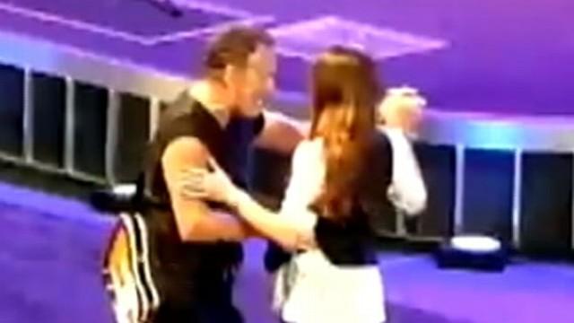 VIDEO: Watch what happens when the rocker surprises his daughter during a Paris concert.