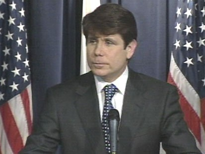VIDEO: Rod Blagojevich at a podium.