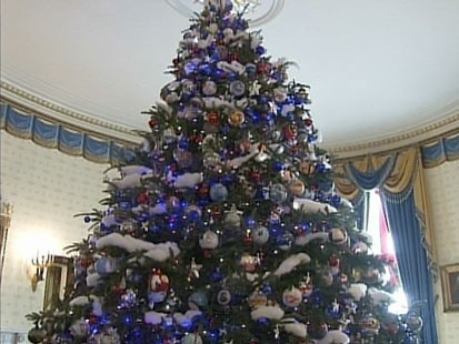 A picture of the White House Christmas tree.