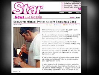 VIDEO: The Star article featuring the photo of Michael Phelps smoking a bong.