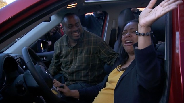 VIDEO: Fran Revell of Decatur, Ga., gets the surprise of her life with a brand new Mazda CX5.