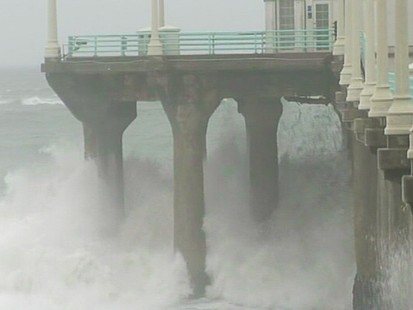 VIDEO: Rain, snow and wind causes flooding and damage along the states coast.