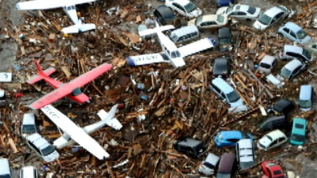 VIDEO: Houses, boats and cars make up more than 20 million tons of debris near Hawaii.