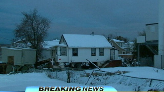 VIDEO: Hurricane Sandy Victims Hit with Noreaster