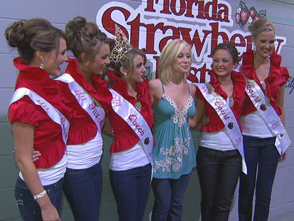 VIDEO: Strawberry Queen and her court reign over sweet festival in Florida.