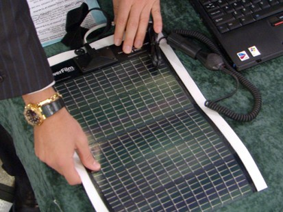 VIDEO: Novothink Surge products use solar energy to power chargers.