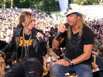 VIDEO: Miley Cyrus and Bret Michaels talk about their collaboration on her new album.