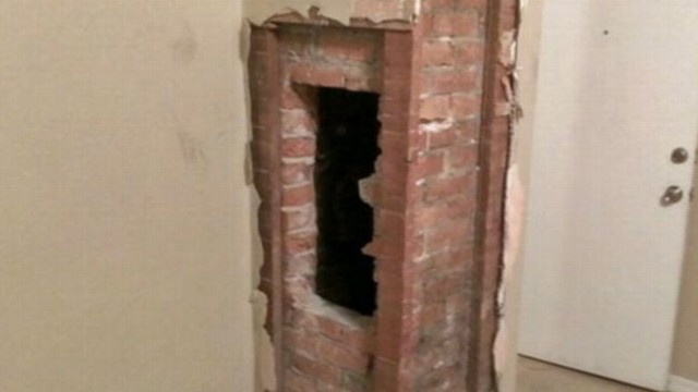 VIDEO: It remains a mystery why the 24-year-old was in the chimney.
