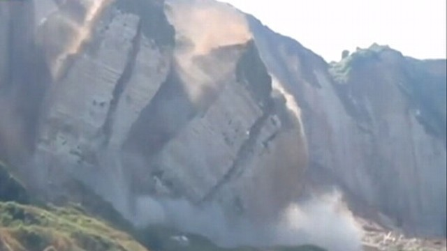 VIDEO: Cliff Collapse Caught on Camera