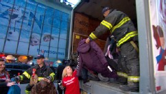 VIDEO: New York Fire Department donates 500 coats to GMAs seventh annual coat drive.
