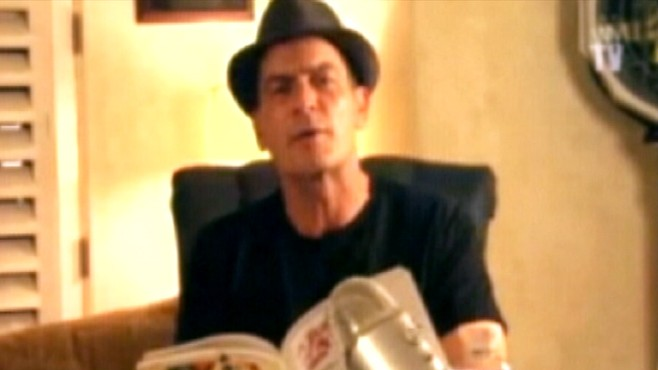 VIDEO: Actor Charlie Sheen streams himself on the web in latest media stunt.