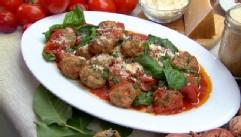 VIDEO: Fabio Viviani prepares his mom's meatballs, drunken spaghetti and tomato salad with orange and feta.
