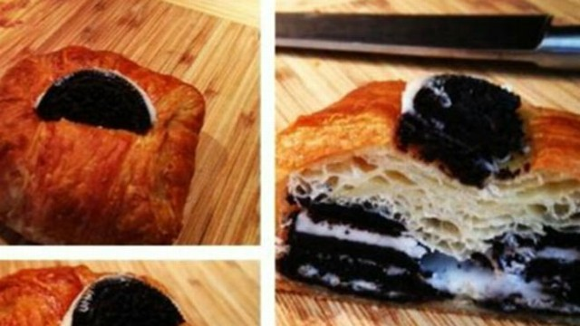 VIDEO: The delectable treat combines an Oreo cookie with a croissant.