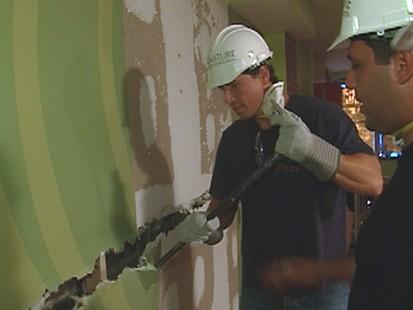 VIDEO: Chris Cuomo tries his hand at demolition for a day.