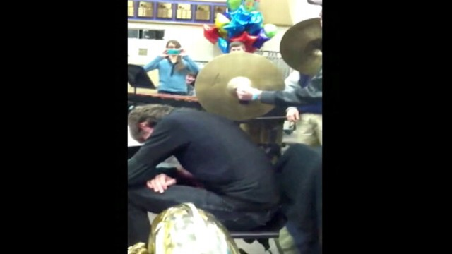 VIDEO: Tuba Player Falls Asleep During Band Practice Startled Awake By Cymbol: YouTube Video Goes Viral