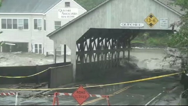 VIDEO: At least a dozen towns are isolated by raging floodwaters following hurricane.