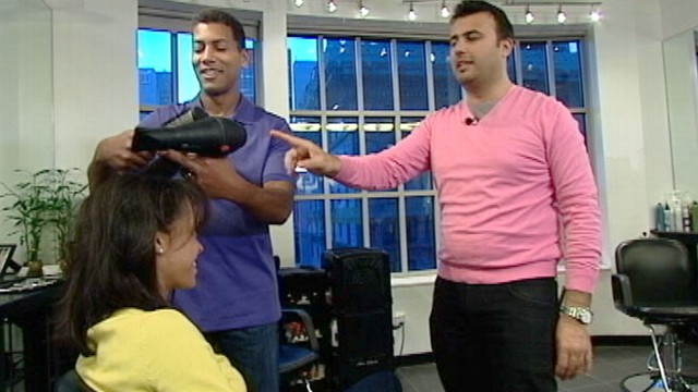 VIDEO: Louis Licari salons Arsen Gurgov teaches a class where spouses can learn to blow out hair.