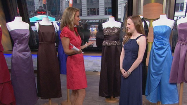 VIDEO: Kristy Fabrizi reveals her bridesmaid dresses collected over the years.