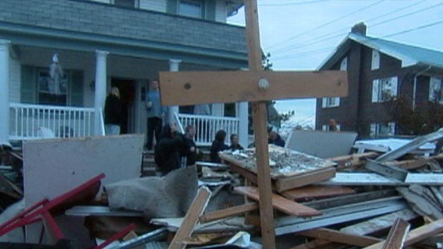 VIDEO: Residents struggle without fuel, electricity and food after superstorm Sandy ravages area.