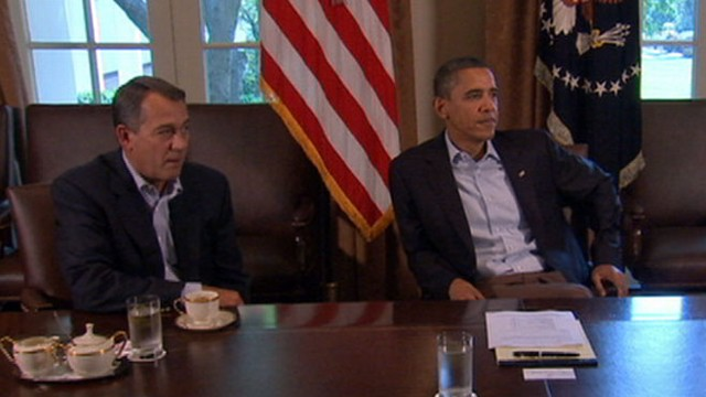 VIDEO: Congressional leaders worked through the night to hammer out debt deal.
