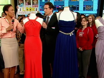 VIDEO: Robin Roberts gives her three Oscar night gowns to three very different people.