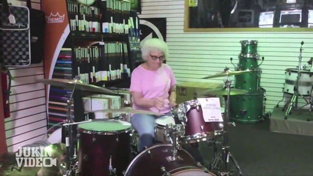 VIDEO: Grandma Drummer Knows How to Rock