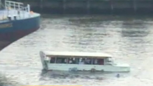 VIDEO: Video released shows a fatal accident between a huge barge and small tour boat.