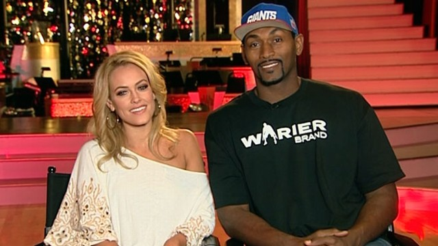 VIDEO: Ron Artest and Peta Murgatroyd are the first couple voted off the show.
