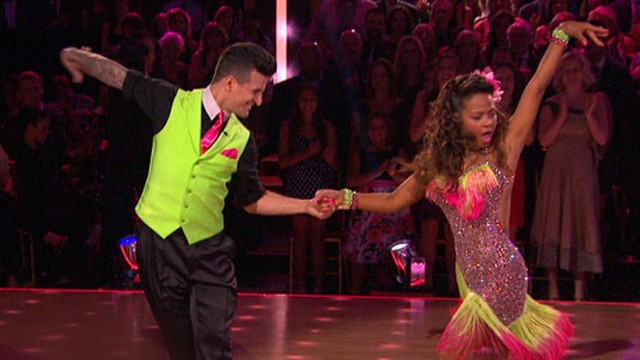 """VIDEO: The couple received a 10 from the """"Dancing With the Stars"""" judges but were voted off by viewers."""