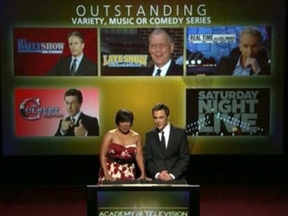 VIDEO: Stars Chandra Wilson and Jim Parsons announce the Emmy nominees.