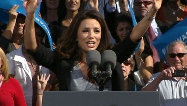 VIDEO: One of President Obamas biggest celebrity supporters, Eva Longoria calls in to GMA