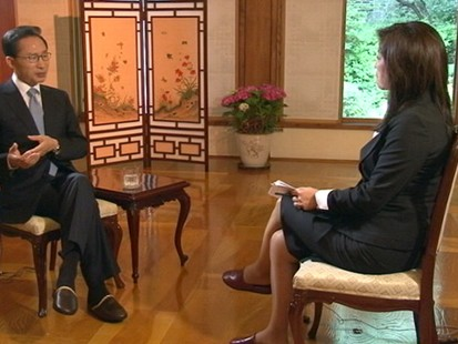 VIDEO: Juju Chang talks to the president of Korea about climate change and growth.