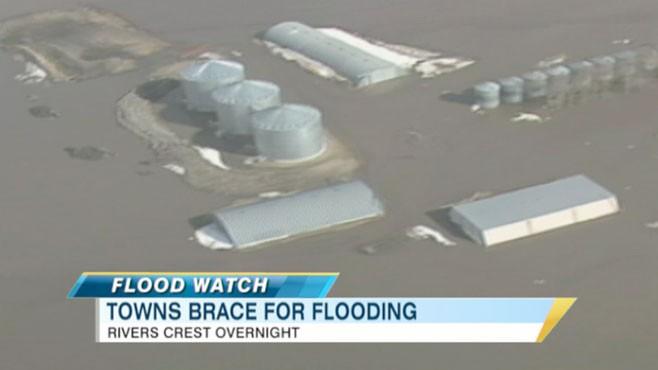 VIDEO: Officials are cautious as rivers rise toward dangerous levels.