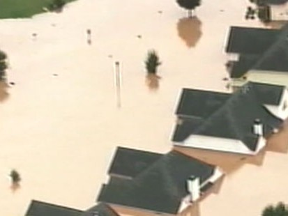 VIDEO: Massive flooding in the South washes out roads and forces schools to close.