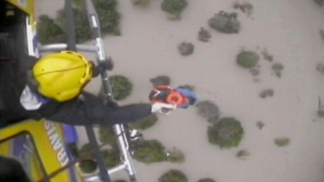 VIDEO:Halloween rainfall near Austin, Texas, rapidly washed out roads and flooded homes.
