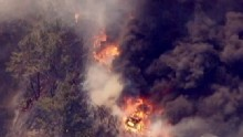 Good Morning America: GMA 5/03: Brush Fire North of Los Angeles Reaches Pacific Ocean