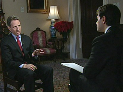 VIDEO: Tim Geithner discusses the economy and health care with George Stephanopoulos.