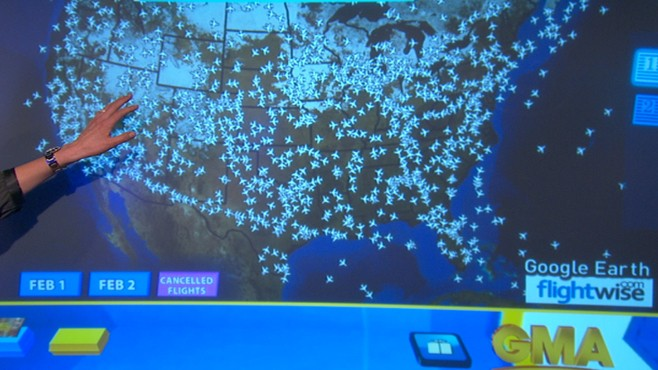 VIDEO: Severe weather grounds more than 11,000 scheduled flights.
