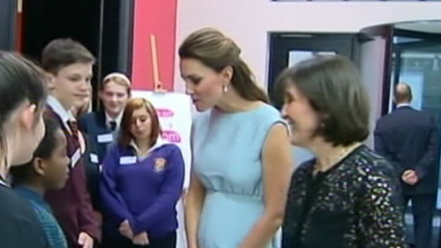VIDEO: Officials and baby-watchers in London anxiously await new heir to the British throne.