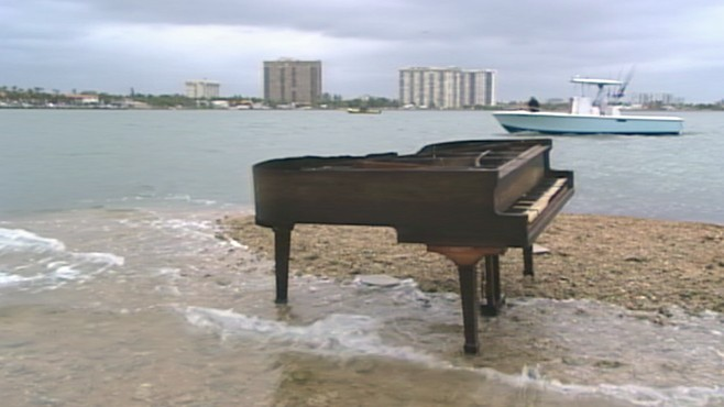 VIDEO: How did a grand piano end up on a sandbar in Biscayne Bay?