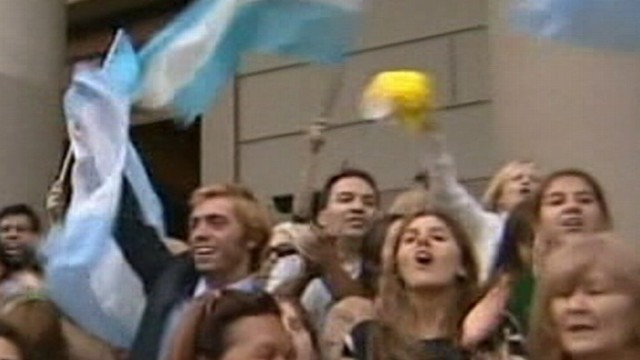 VIDEO: Matt Gutman reports from Argentina on reactions to Cardinal Begoglios elevation to pope.