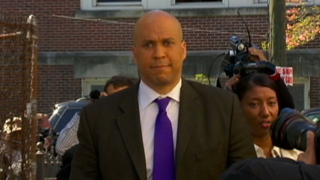 VIDEO: Newark mayor and Senate candidate faces about his Twitter conversation with a stripper.