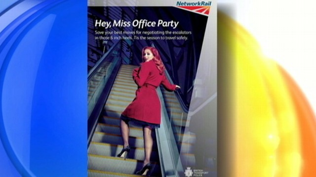 VIDEO: Watch how the Network Rail warns of the dangers of heels, office parties and trains.